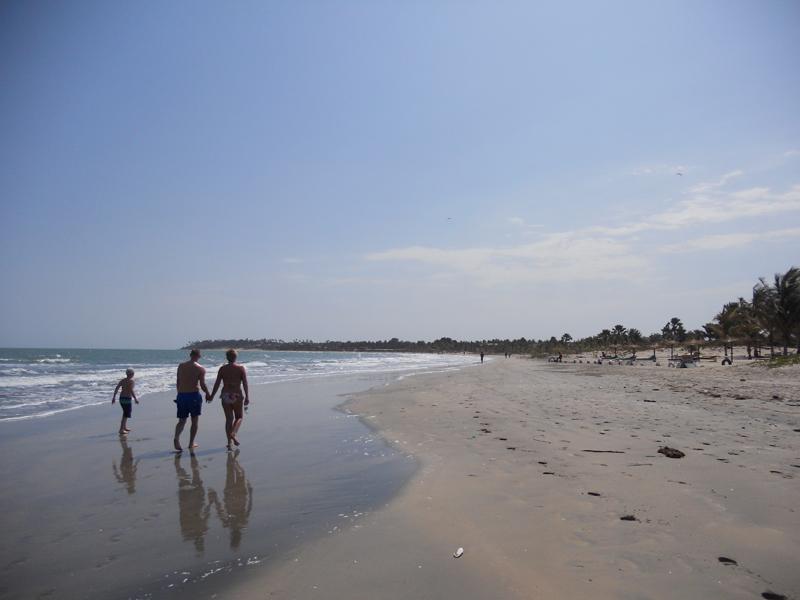 Take a family stroll on the beach.JPG